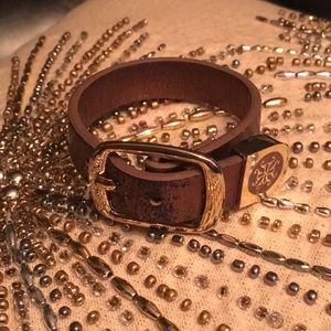 Rustic Cuff Leather Buckle Bracelet